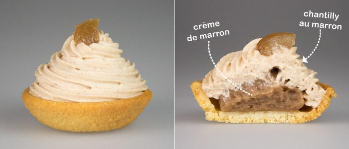 Mini Tarte à la Crème Marron